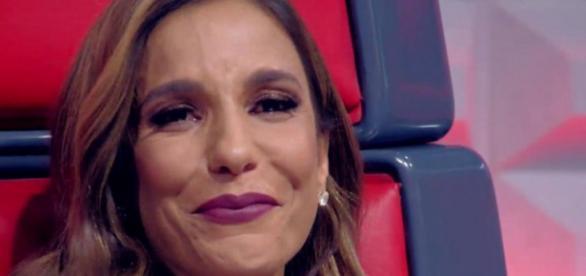 Ivete Sangalo chora na final do The Voice