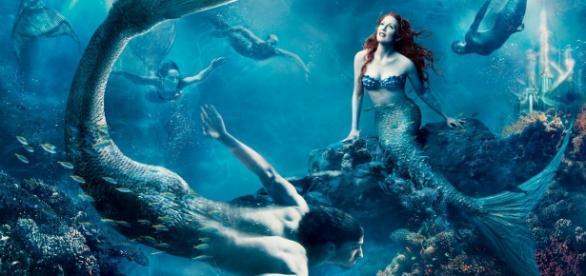 Mitologia grega - sereias, metade mulher e metade peixe