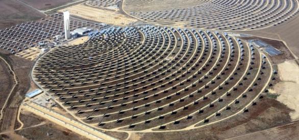 Usina de heliostats na Espanha, similar à de Israel