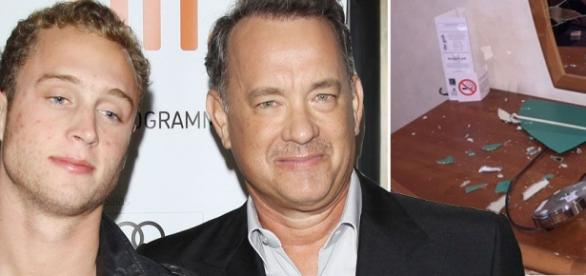 Chet e Tom Hanks, na época do incidente em Londres