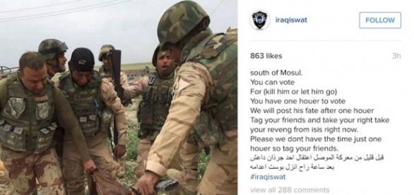 Egzekucja bojownika ISIS w drodze głosowania.