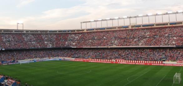 Estadio Vicente Calderón durante un partido