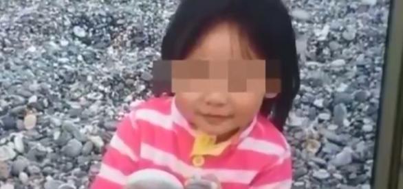 Screenshot do YouTube, mostrando a criança atacada.