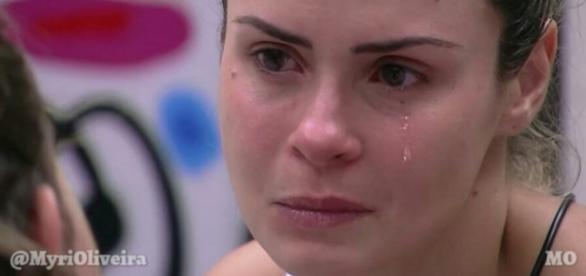 Ana Paula chora no BBB - Foto/Reprodução