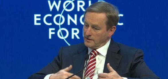 Enda Kenny, en el World Economic Forum (WEF)