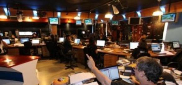 Redação de jornalismo da TV Record