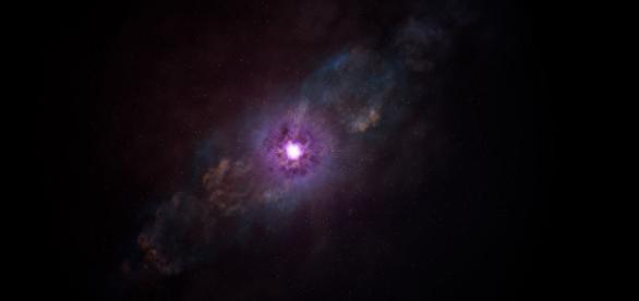 São ouvidos sons misteriosos vindos do espaço.
