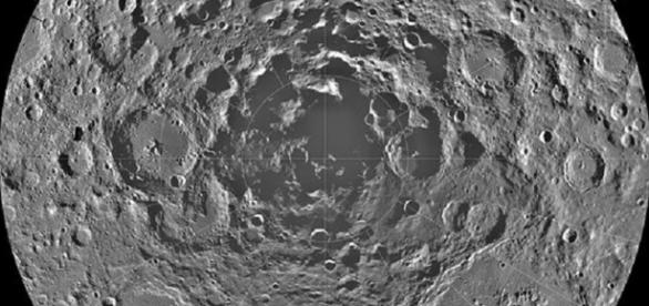 The lunar south pole (Credit NASA)