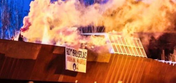 Ataque neonazi a la Mezquita de la M-30.Twitter