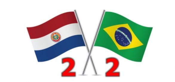 Brasil empata com Paraguai em 2 a 2
