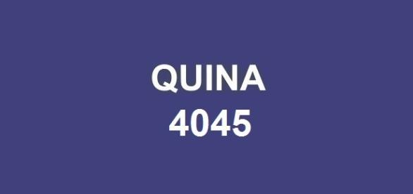 Caixa anunciou o resultado do sorteio Quina 4045.