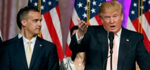 Donald Trump y su jefe de campaña