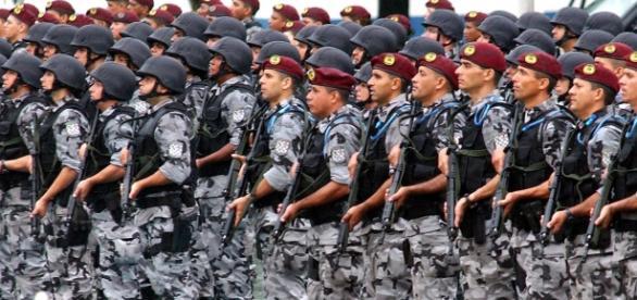 Força Nacional de Segurança, órgão vinculado ao Min.Justiça.