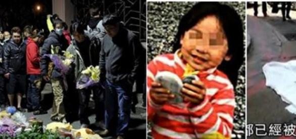 Fotografia de la menor decapitada en Taiwan