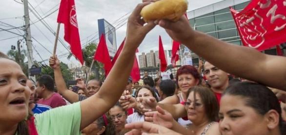Manifestação do Partido dos Trabalhadores, o PT
