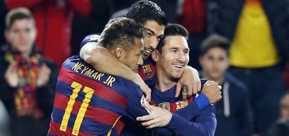 Três artilheiros de ouro do Barcelona