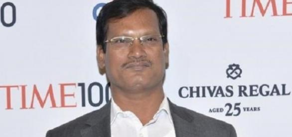 Arunachalam Muruganantham en una gala en 2014