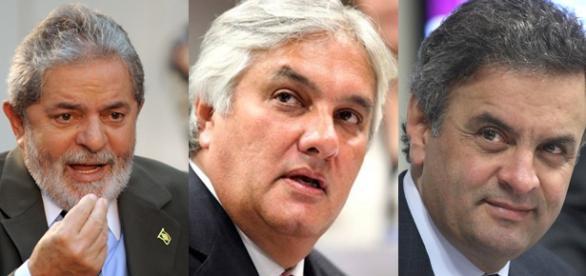 Falaram Lula, Aécio, Dilma e mais outros