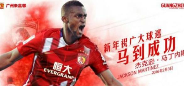 Jackson Martínez, fichaje estrella del Guangzhou