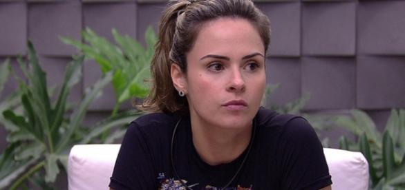 Ana Paula durante o Big Brother Brasil