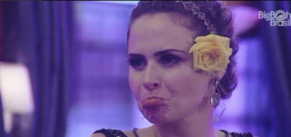 Ana Paula na festa (Reprodução/Globo)
