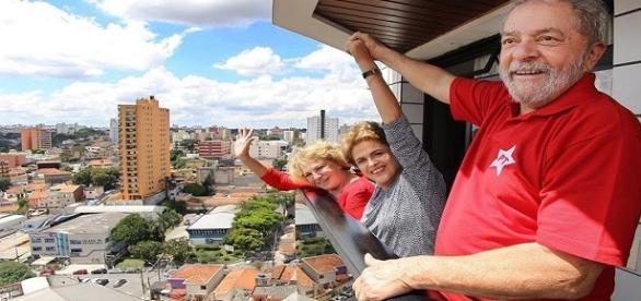 Dilma Rouseff y Lula Da Silva juntos