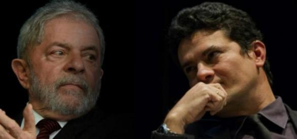 Ex-presidente Lula e Juiz Federal Sérgio Moro.