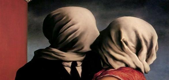 Los amantes, René Magritte. Óleo