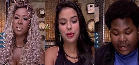 Paredão triplo é formado no reality da Rede Globo