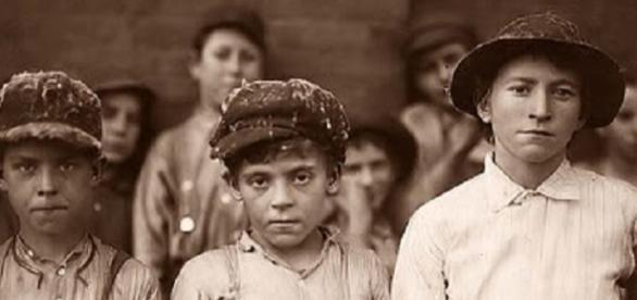 Tres niños que se sometieron al experimento