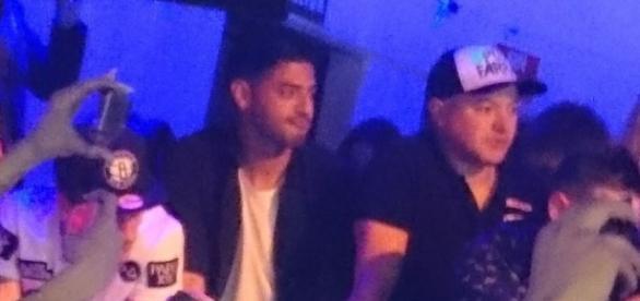 Vela y Griezmann en el concierto de Chris Brown