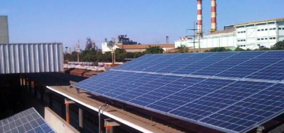 Energia solar em estações rodo-ferroviarias.