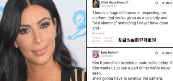 Kim Kardashian discutiu no Twitter