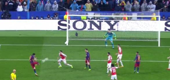 Luis Suárez marcó el segundo gol de los azulgranas