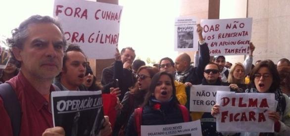 Ato em Lisboa. Foto: Lucas Rohan