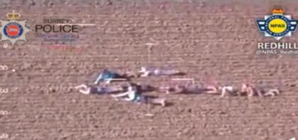 Captura de imagen del vídeo policial desde el aire