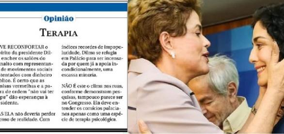 Dilma e Letícia Sabatella - Foto/Montagem