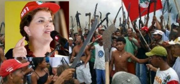 Movimento dos Sem Terra e Dilma - Foto/Montagem