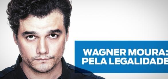 Wagner Moura expõe opinião a favor de Governo.