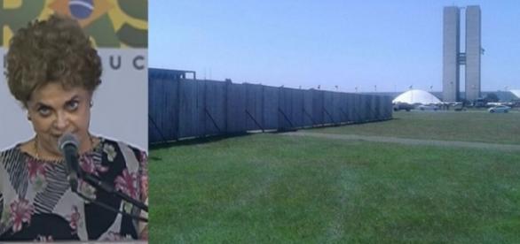 Barreiras são colocadas em Brasília