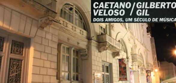 Caetano e Gil se apresentarão no Coliseu de Lisboa