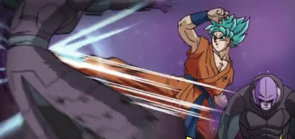 Goku derrota a Hit con su nueva tecnica
