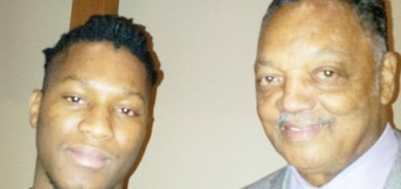 Sang William Mendy with Civil Rights Leader Rev Jessie Jackson / Sang Mendy, Facebook