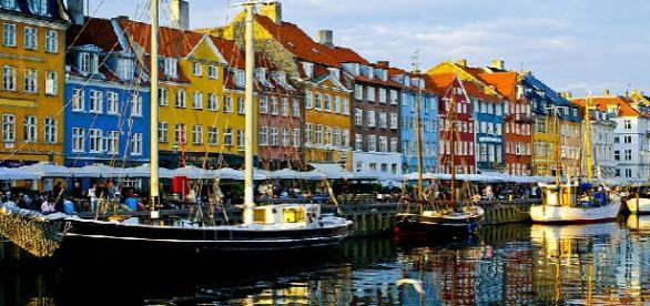 Casas características a lo largo del Nyhavn