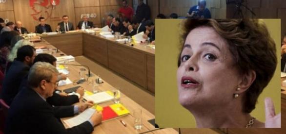PSB abandona a presidente - Foto/Montagem