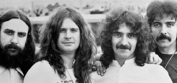 Black Sabbath em foto dos anos 70