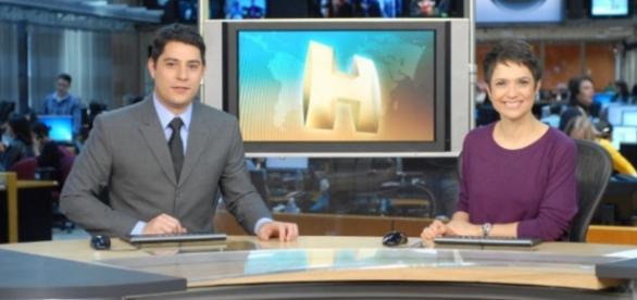 Evaristo Costa e Sandra Annenberg - Foto/Divulgação