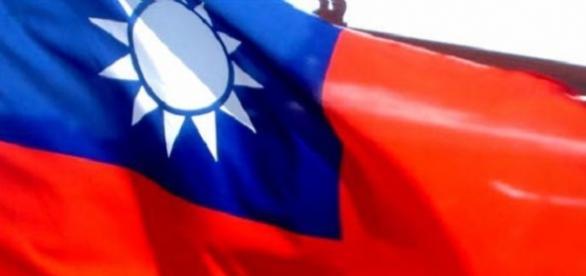 Foto de la bandera taiwanesa ondeando