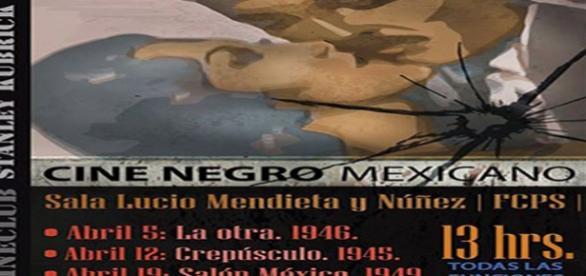 """Programa del ciclo """"Cine negro mexicano"""", Cine Club Stanley Kubrick"""