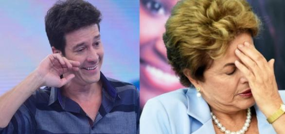 Rodrigo Faro e Dilma Rousseff - Foto/Montagem
